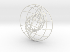 Nesting Spheres 3in in White Natural Versatile Plastic
