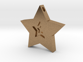 Star Charm (Precious metals)   in Natural Brass