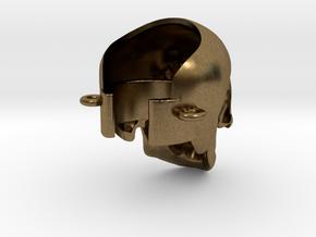 Crâne à la cigarette électronique in Raw Bronze
