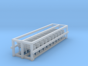 8 Benches 1 in Smooth Fine Detail Plastic