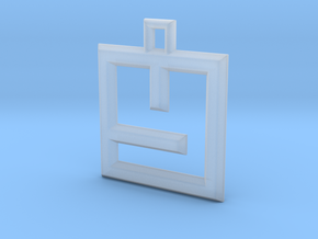 ABC Pendant - Y Type - Wire - 24x24x3 mm in Smooth Fine Detail Plastic