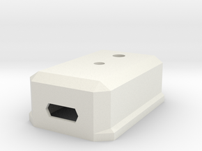Case for Arduino Pro Micro in White Natural Versatile Plastic