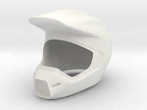 Helmet 8 in White Natural Versatile Plastic