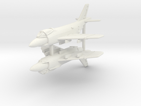 1/350 F3H Demon (x2) in White Natural Versatile Plastic
