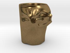 Face Escape Mug in Natural Bronze