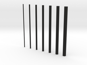 thin rods inc 0 5 in Black Strong & Flexible