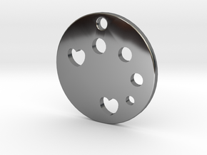 Love Disk v1 in Fine Detail Polished Silver