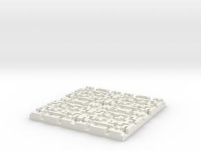 Depth Coaster in White Natural Versatile Plastic