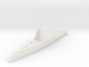 Zumwalt Class Destroyer 1:1800 x1 in White Strong & Flexible