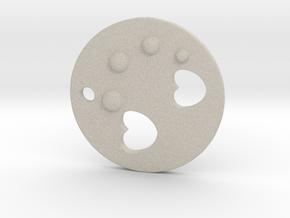 Love Disk V2 30mm in Natural Sandstone