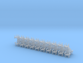 Parlor Chairs X30 HO Scale (Higher detail) in Smooth Fine Detail Plastic