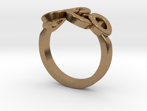 Olympic Ring-sz18 in Natural Brass