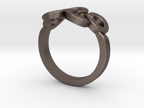 Olympic Ring-sz19 in Polished Bronzed Silver Steel