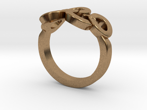 Olympic Ring-sz17 in Natural Brass