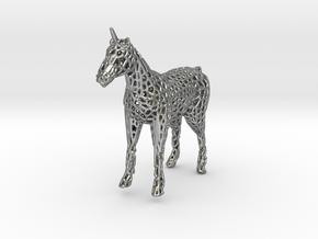 Unicorn Voronoi in Natural Silver