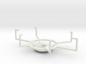 Phone Bike Mount in White Natural Versatile Plastic
