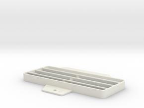 Fiat DS124 Lüftergitter Mittelkonsole Links in White Natural Versatile Plastic