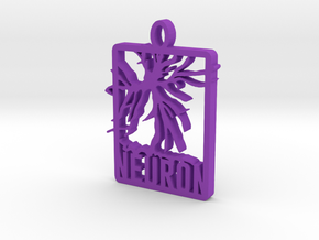 Neuron Pendant in Purple Processed Versatile Plastic