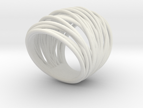38mm Wide Wrap Ring Size 8 in White Natural Versatile Plastic