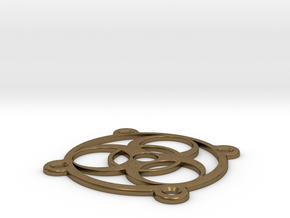 PC Fan grill - BioHazard - (50mm) in Natural Bronze