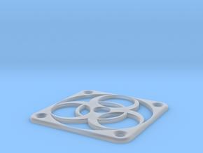 PC Fan grill - BioHazard - (50mm) in Smooth Fine Detail Plastic