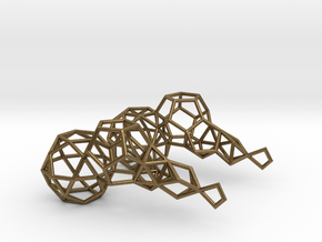 Earring_geometry in Natural Bronze