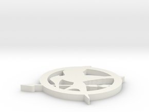 Mockingjay Pin in White Natural Versatile Plastic