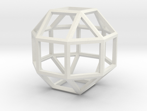 "4"" rhombicuboctahedron  in White Natural Versatile Plastic"