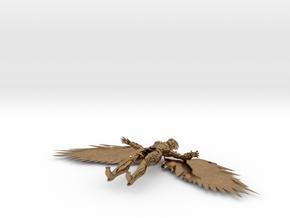 Hawkgirl V in Natural Brass