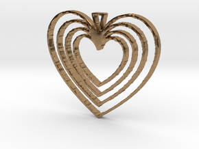 Hearts Go On in Natural Brass