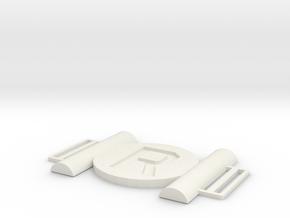Robin Belt Buckle in White Natural Versatile Plastic