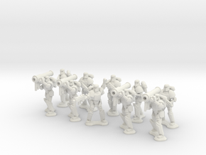 15mm Legionary Missile Support Squad in White Natural Versatile Plastic