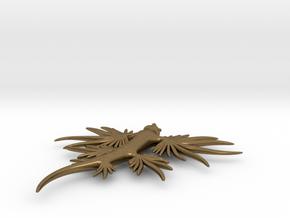 Blue Dragon Pendant head  in Natural Bronze