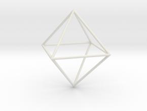 Octahedron 100mm in White Natural Versatile Plastic