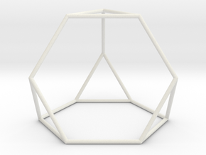TruncatedTetrahedron 100mm in White Natural Versatile Plastic
