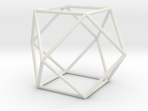 Cuboctahedron 100mm in White Natural Versatile Plastic