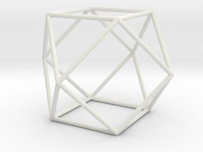 Cuboctahedron 100mm in White Natural Versatile Plastic