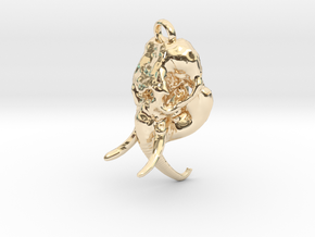 Elephant skull in 14K Yellow Gold