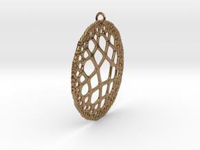 Sand Dollar in Natural Brass