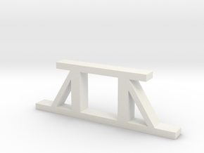 Pit Pier - Braced in White Natural Versatile Plastic