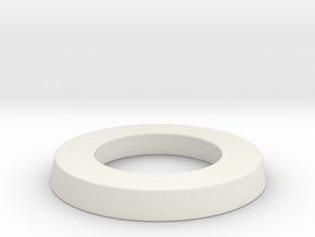 adapter ring for eBike belt disk in White Natural Versatile Plastic