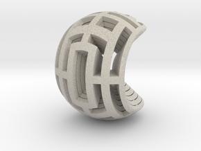 Multilayer Open Sphere Light,  HandHeld Toy. in Natural Sandstone