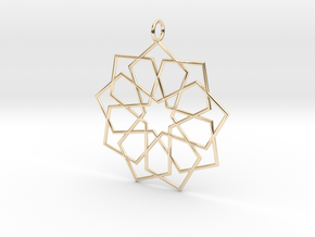 eastern ornament rounded in 14K Yellow Gold