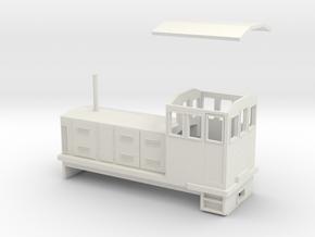 "HOn30 Endcab Locomotive (""Elke"") in White Natural Versatile Plastic"