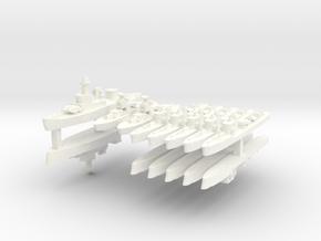 Thai Fleet 1:1800 in White Processed Versatile Plastic
