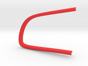 Contour bouton gauche A6 in Red Processed Versatile Plastic