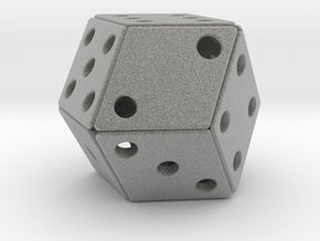Rhombic Die #2 in Metallic Plastic