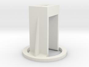 Motorhalterung - Version 1 in White Natural Versatile Plastic