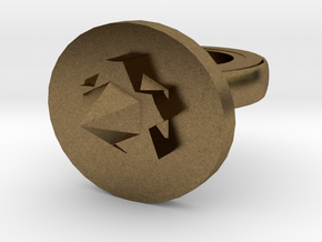Spike Ring 20x20mm More Printable (3) in Natural Bronze