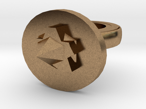 Spike Ring 20x20mm More Printable (3) in Natural Brass